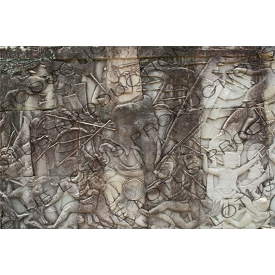 Sculptural Relief in Angkor Thom