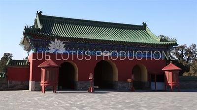 West Gate of Hall of Prayer for Good Harvests (Qi Nian Dian) in the Temple of Heaven in Beijing
