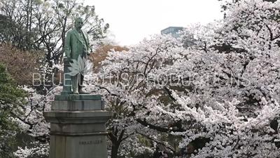 Tokyo Shinagawa Yajiro Statue