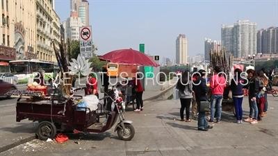 Sugar Cane Juice Vendor in Guangzhou