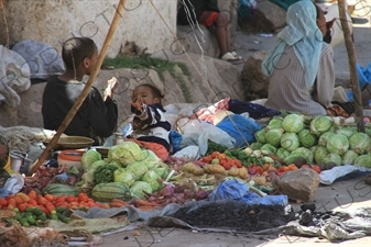 Fruit and Vegetable Street Vendors in the Old City of Harar