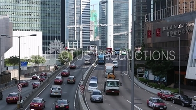 Connaught Road Central in Hong Kong