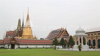 Exterior of the Emerald Temple/Chapel (Wat Phra Kaew) at the Grand Palace (Phra Borom Maha Ratcha Wang) in Bangkok