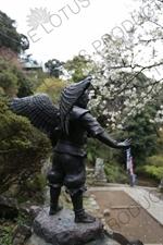 Karasu-tengu Statue near Kencho-ji in Kamakura