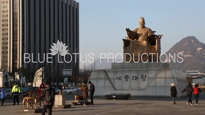 King Sejong Statue on Gwanghwamun Square in Seoul