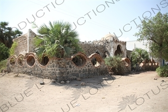 Remains of a Shelled Building in War Memory Square in Massawa