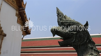 Tantima Bird (Nok Tantima) Guardian Statue at entrance to Phra Sawet Kudakhan Wihan Yot at the Emerald Temple/Chapel (Wat Phra Kaew) at the Grand Palace in Bangkok