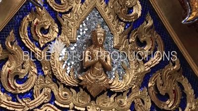 Gold Carving at the Emerald Temple/Chapel (Wat Phra Kaew) at the Grand Palace (Phra Borom Maha Ratcha Wang) in Bangkok