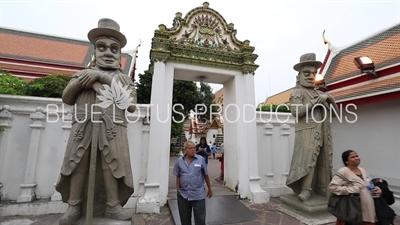Chinese Rock Giant Guardians at Wat Pho (Wat Phra Chetuphon Vimolmangklararm Rajwaramahaviharn) in Bangkok