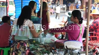 Food Stall in the Nana Area of Bangkok
