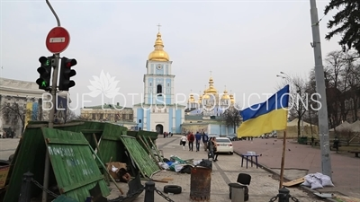 Protest Camp in front of St. Michael's Golden-Domed Monastery in Kiev