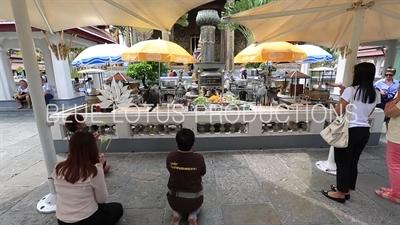 Guanyin (Chao Mae Kuan-im) Shrine in front of Ubosot at the Emerald Temple/Chapel (Wat Phra Kaew) at the Grand Palace (Phra Borom Maha Ratcha Wang) in Bangkok