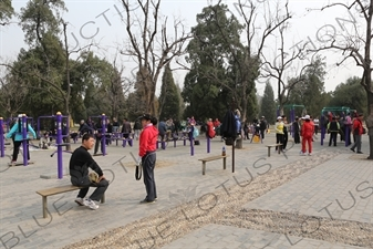 Communal Exercise Equipment near the North Gate of the Temple of Heaven (Tiantan) in Beijing
