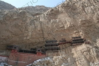 Xuankong Hanging Temple/Monastery (Xuankong Si) on Heng Mountain (Hengshan) in Shanxi Province