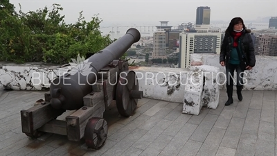Cannon in Guia Fortress (Fortaleza da Guia) in Macau