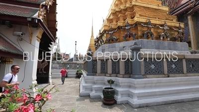 Golden Chedi at the Emerald Temple/Chapel (Wat Phra Kaew) at the Grand Palace (Phra Borom Maha Ratcha Wang) in Bangkok