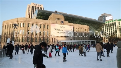 Seoul City Hall and Ice Rink