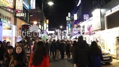 Seoul Street at Night