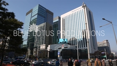 Standard Chartered and Gran Seoul buildings in Seoul