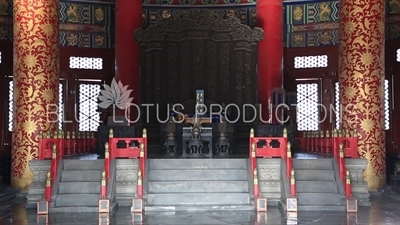 Throne in the Hall of Prayer for Good Harvests (Qi Nian Dian) in the Temple of Heaven in Beijing