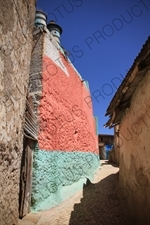 Pastel Coloured Building in the Old City of Harar