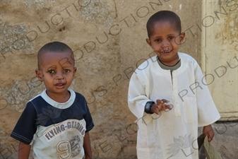 Two Young Children in Keren
