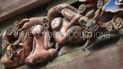 Three Wise Monkeys (Sanzaru) at Toshogu Shrine in Nikko