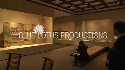 People in 'The Tale of Genji: A Japanese Tale Illuminated' Exhibition at the Metropolitan Museum of Art in New York City
