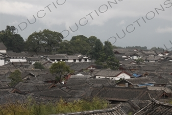 Roofs/Rooves in the Old City in Lijiang