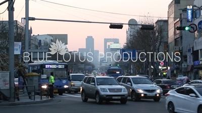 Traffic on a Seoul Street