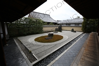 Ryogen-in Rock Garden in the Daitoku-ji Complex in Kyoto