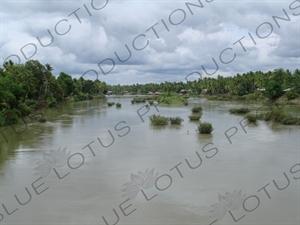 Houses on the Banks of the Mekong River