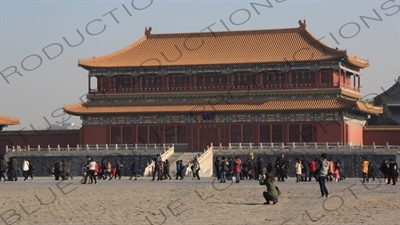 Pavilion of Embodying Benevolence (Tiren Ge) in the Forbidden City in Beijing