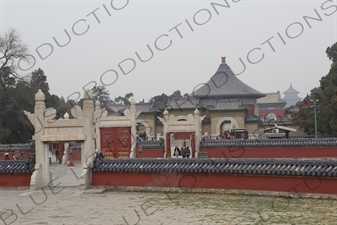 Main Buildings in the Temple of Heaven (Tiantan) in Beijing