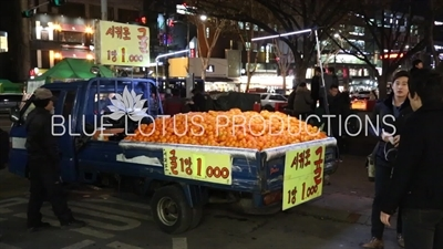 Oranges for Sale on the back of a Truck in Seoul