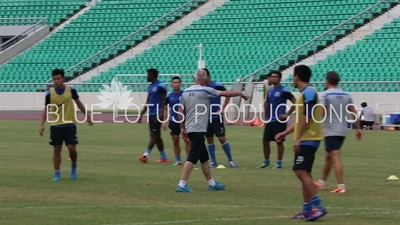 Sven Goran Eriksson at Guangzhou R&F (Rich and Force) Training Ground