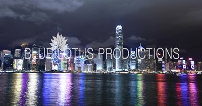 Night Time-Lapse of the North Side of Hong Kong Island