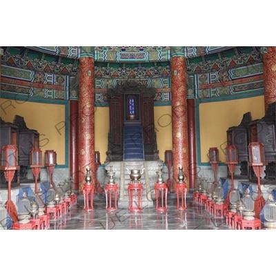 Imperial Vault of Heaven (Huang Qiong Yu) in the Temple of Heaven (Tiantan) in Beijing
