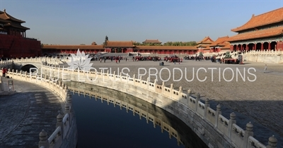 Square of the Gate of Supreme Harmony (Taihemen Guangchang) in the Forbidden City in Beijing