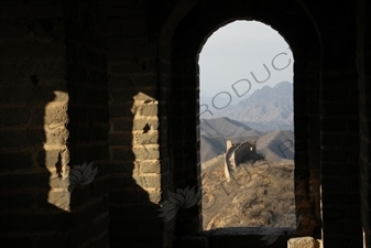 Black Building/Tower (Heilouzi) on the Jinshanling Section of the Great Wall of China