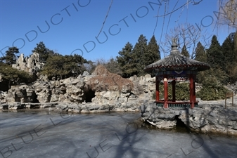 Pavilion in the Southwest Waterscape Area in Ritan Park in Beijing