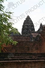 Banteay Samre Central Tower from outside Exterior Wall in Angkor