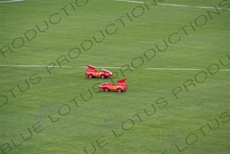 Discus Retrieving Remote Control Cars in the Bird's Nest/National Stadium (Niaochao/Guojia Tiyuchang) in the Olympic Park in Beijing