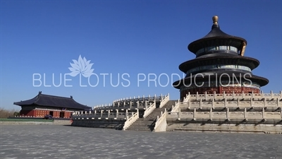 Imperial Hall of Heaven (Huang Qian Dian) and Hall of Prayer for Good Harvests (Qi Nian Dian) in the Temple of Heaven in Beijing