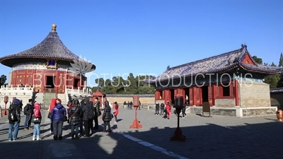 Imperial Vault of Heaven (Huang Qiong Yu) and East Annex Hall in the Temple of Heaven in Beijing