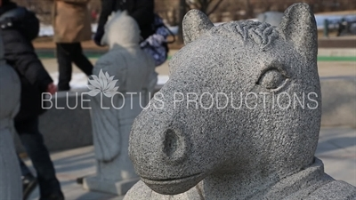 Horse Head Statue of the Twelve Zodiac Animals/Figures outside the Korean National Folk Museum at Gyeongbok Palace (Gyeongbokgung) in Seoul