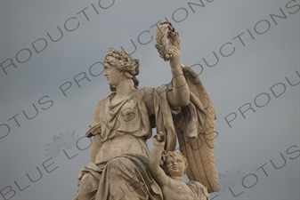 Statue of Victory at the Entrance to the Palace of Versailles (Château de Versailles) in Versailles