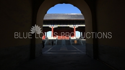 Gate of the Hall of Prayer for Good Harvests (Qi Nian Dian) in the Temple of Heaven in Beijing
