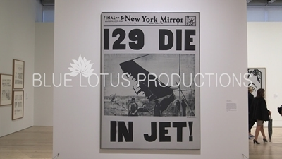 '129 Die in Jet' on Display in the 'Andy Warhol - From A to B and Back Again' Exhibition at the Whitney in New York City