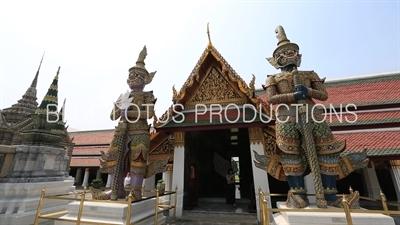 Sahatsadecha and Thotsakan Guardian Demons at the Emerald Temple/Chapel (Wat Phra Kaew) at the Grand Palace (Phra Borom Maha Ratcha Wang) in Bangkok